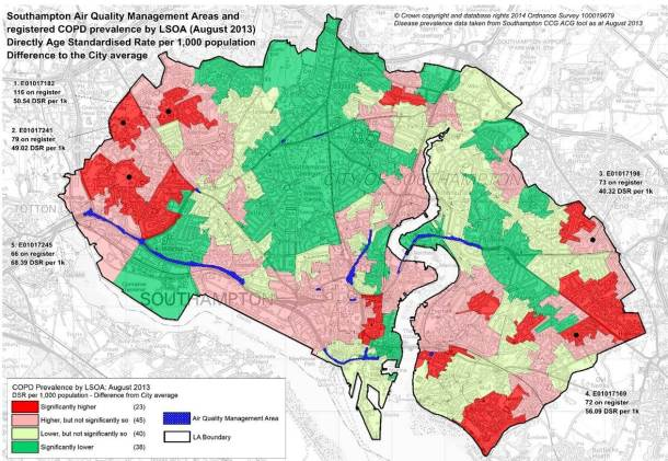 AQMA map - COPD - Public Health Soton